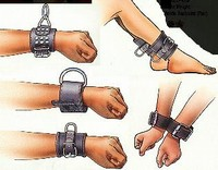 Leather Handcuffs Fleece Lined