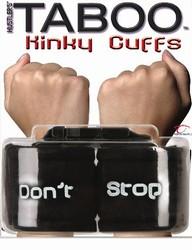 Taboo Kinky Cuffs Dont Stop Black