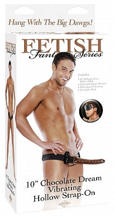Chocolate Dream Vibrating Strap-On