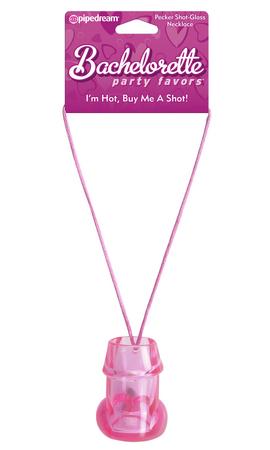 Bachelorette Pecker Shot Necklace