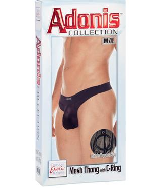 Adonis Mesh Thong with C-Ring