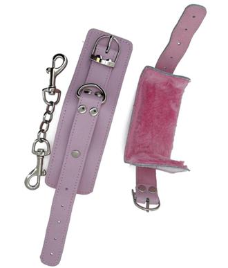 Strapped Furry Wrist Cuffs