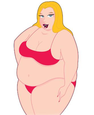 Travel Size Fatty Patty Blow Up Doll