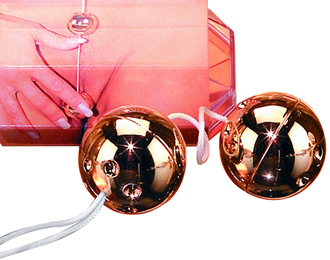 Gold Vibro Balls 2pc
