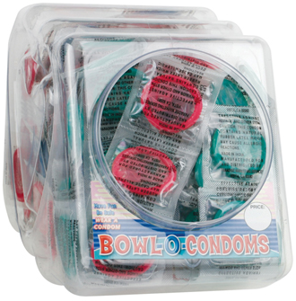 Colored Condoms Bowl 288