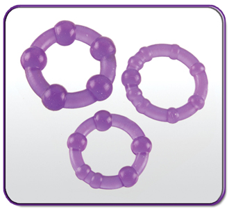 Beaded Triple Rings Set