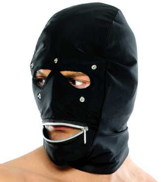 Mouth Zipper Face Hood