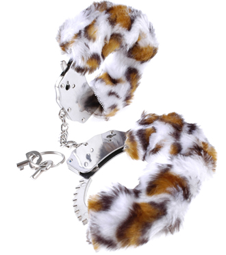 Fake Fur Handcuffs Leopard