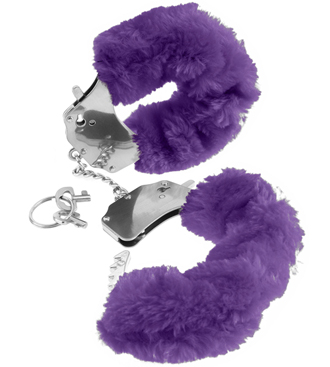 Fake Fur Handcuffs Purple