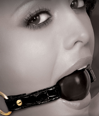 Crocodile Leather Ball Gag