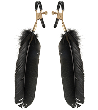 Golden Feather Nipple Clamps