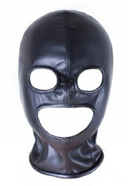 Fetish Open Mouth Eye Hood Mask Head Bondage