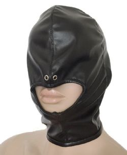 Fetish Head Bondage Mouth Open Gimp Hood
