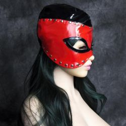 Devil Mask with Black and Red Lined Fetish
