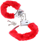 Red Beginner's Furry Cuffs