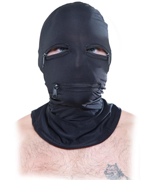 Fetish Zipper Face Hood