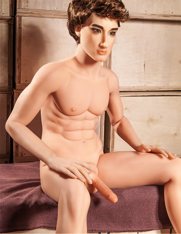 Realistic cyberskin male sex doll