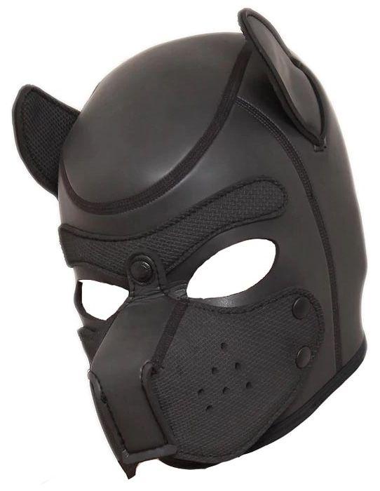 Bondage Fetish Zipper Mouth Dog leather Hood