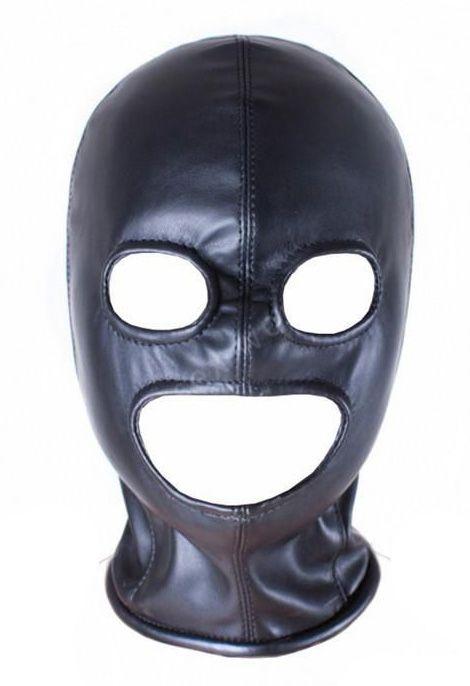 Fetish Open Mouth Eye Hood Mask Head Bondage