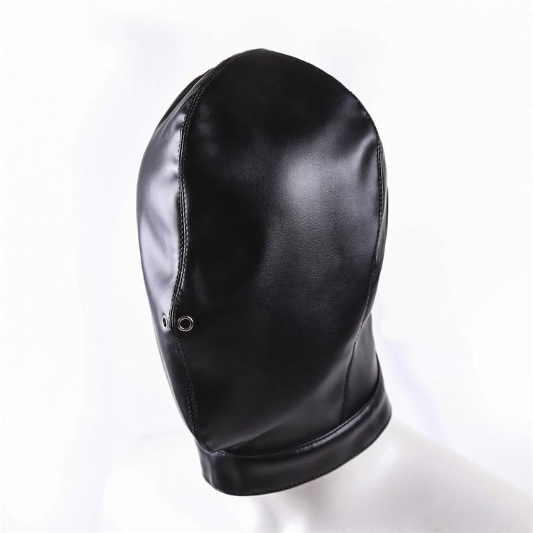 Full Head Bondage Restraint Slave Sex Hood Mask